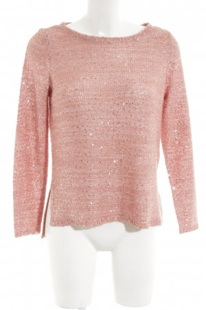 Only Strickpullover pink Allover-Druck Casual-Look