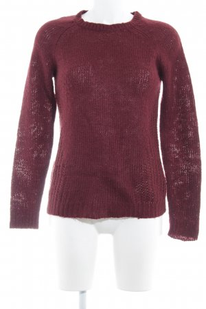 Only Strickpullover bordeauxrot Casual-Look