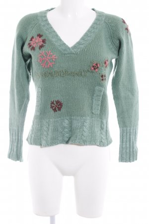 Only Strickpullover florales Muster Ethno-Look