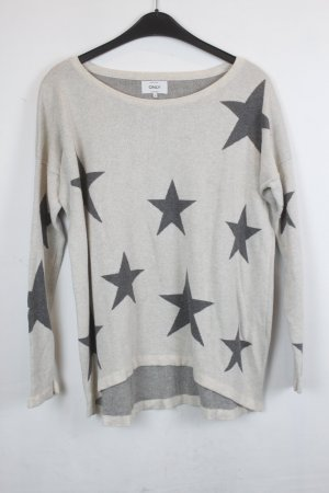 Be only Knitted Sweater natural white-dark grey mixture fibre