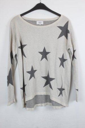 Be only Maglione lavorato a maglia bianco sporco-grigio scuro Tessuto misto