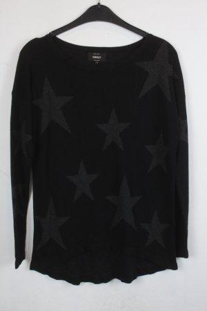 Be only Maglione lavorato a maglia nero-grigio Tessuto misto