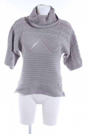 Only Strickpullover grau Zopfmuster Casual-Look