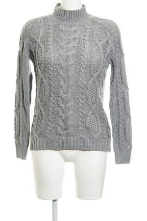 Only Strickpullover hellgrau Casual-Look