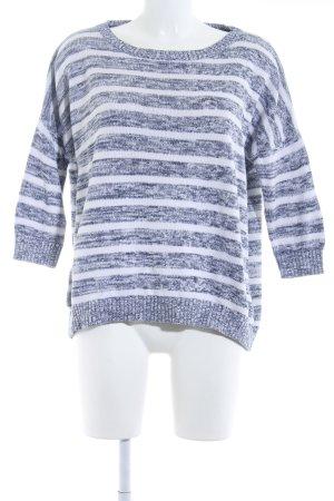 Only Maglione lavorato a maglia bianco-grigio ardesia motivo a righe