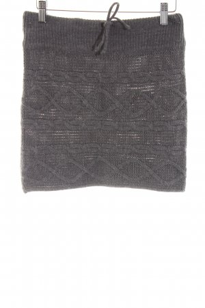 Only Knitted Skirt light grey cable stitch casual look