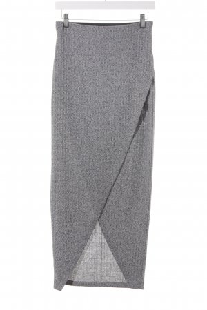 Only Knitted Skirt light grey-dark grey flecked casual look