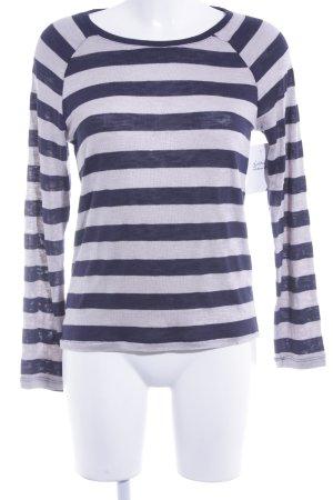 Only Camisa tejida marrón claro-azul oscuro estampado a rayas look casual