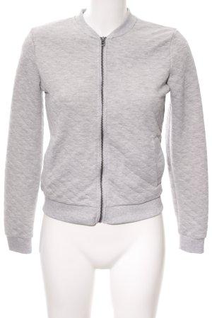 Only Smanicato lavorato a maglia grigio chiaro motivo trapuntato stile casual