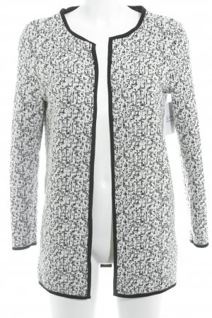 Only Gilet tricoté noir-blanc cassé Mélange de motifs style simple