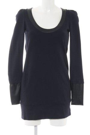 Only stylish girls Langarmkleid schwarz-dunkelblau Elegant