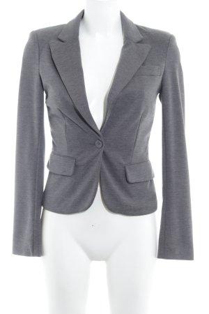 Only Blazer de tela de sudadera gris oscuro-blanco Patrón monograma