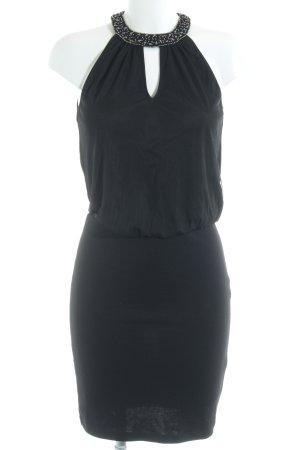 Only Vestido de tela de sudadera negro-color plata elegante