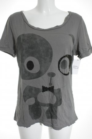Only T-Shirt dunkelgrau Motivdruck schlichter Stil