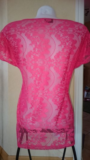 Only T-Shirt Gr S Pink Rückseite mit Spitze