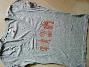 Only T- Shirt grau mit Aufdruck M