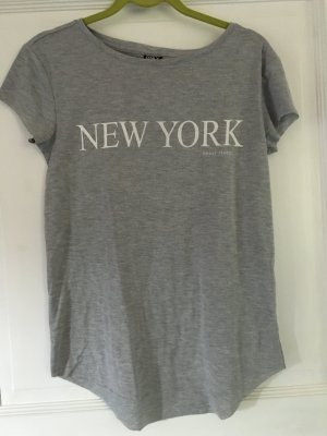 Only T-Shirt grau New York Gr. M