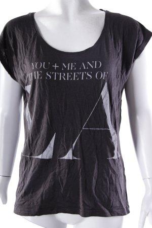 Only T-Shirt mit Schriftzug