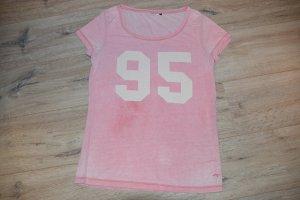 Only T-Shirt, rosa mit Aufdruck in Gr. M