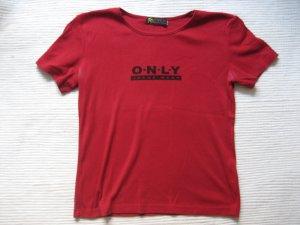 only t-shirt rot neuwertig gr. xs 34