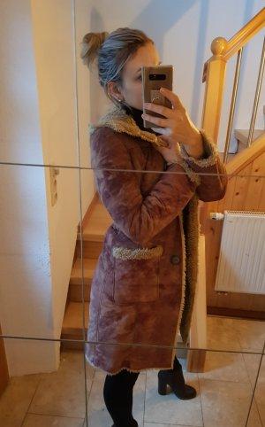 Only Cappotto in eco pelliccia marrone