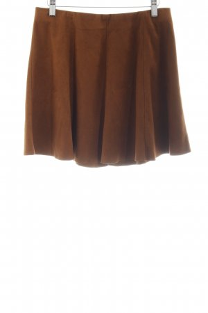 Only Circle Skirt cognac-coloured casual look