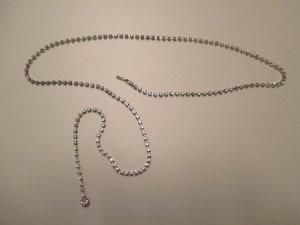 Swarovski Cintura con catena argento