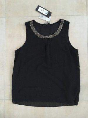 Only Camisa de mujer negro-color plata