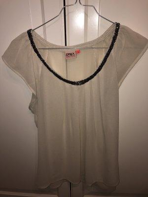 Only Blusa crema-beige chiaro