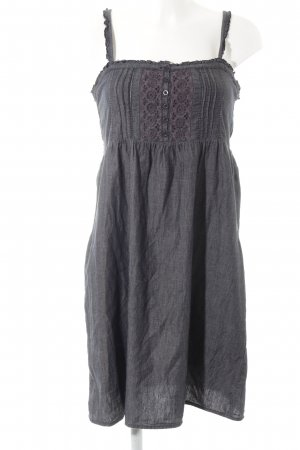 Only Trägerkleid anthrazit-graulila florales Muster Casual-Look