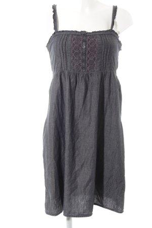 Only Abito scamiciato antracite-grigio-lilla motivo floreale stile casual