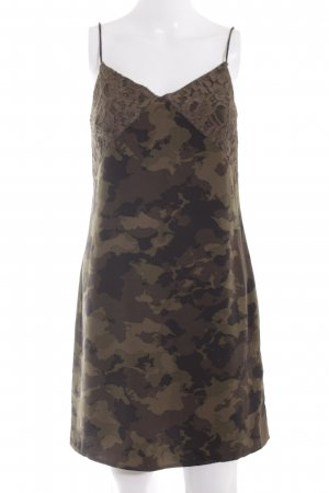 Only Trägerkleid braun Camouflagemuster Casual-Look