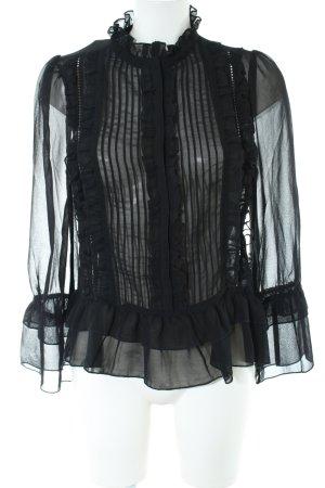 Only Transparent Blouse black elegant