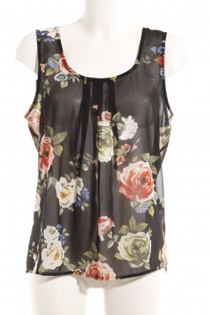 Only Transparenz-Bluse Blumenmuster Business-Look