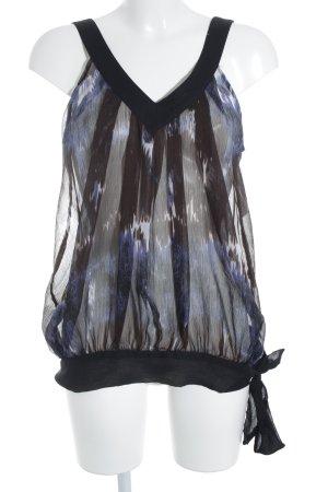Only Transparante blouse kleurvlekken patroon transparante uitstraling