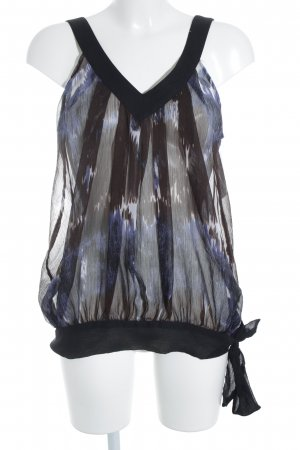 Only Transparenz-Bluse Farbtupfermuster Transparenz-Optik