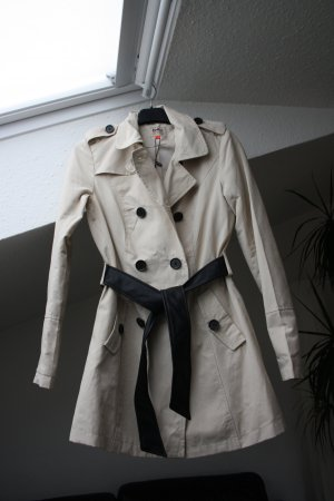 ONLY Trench Coat Valentine Beige/Leder XS