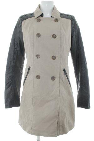 Only Trenchcoat beige-schwarz Casual-Look