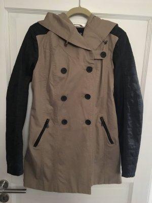 Only Trenchcoat Mantel beige schwarz Gr. M