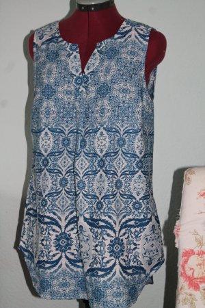ONLY Tunika ohne Arm, blautöne Gr.40 oriental