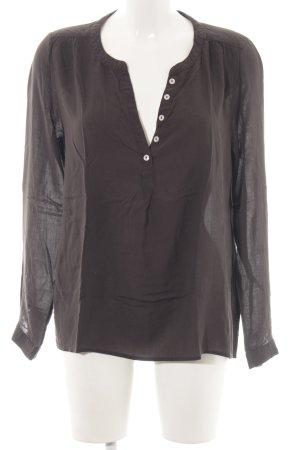 Only Blusa de túnica marrón estilo «business»