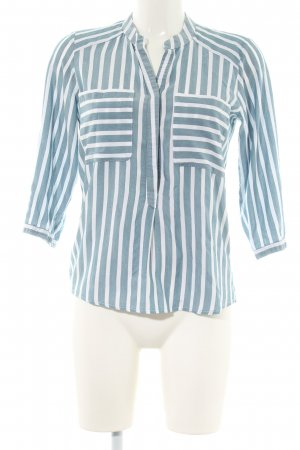 Only Tunic Blouse turquoise-white striped pattern business style