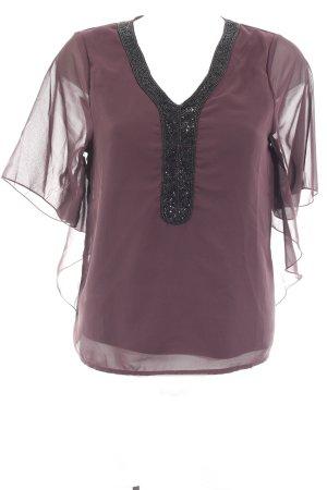 Only Blusa de túnica negro-violeta amarronado elegante