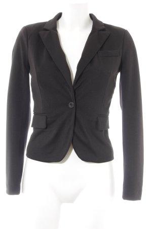 Only Tweed blazer zwart zakelijke stijl
