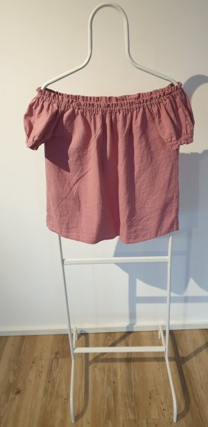 Only Boothalsshirt stoffig roze