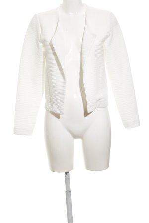 Only Übergangsjacke weiß minimalistischer Stil