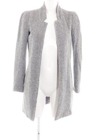 Only Between-Seasons-Coat light grey flecked casual look