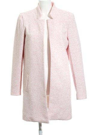 Only Übergangsmantel rosa-weiß Streifenmuster Casual-Look