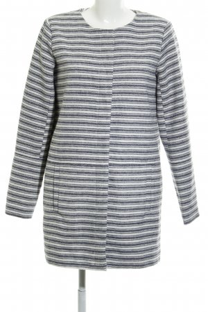 Only Between-Seasons-Coat natural white-dark blue striped pattern casual look