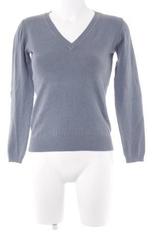 Only V-Ausschnitt-Pullover blassblau Casual-Look
